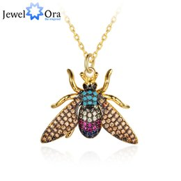 $enCountryForm.capitalKeyWord NZ - Lovely Insect Bee Necklace&Pendant Trendy Jewelry Choker For Women Girl Gifts Wholesale Free Shipping (jewelora NE102778)