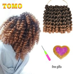$enCountryForm.capitalKeyWord NZ - TOMO 8Inch Short Jumby Wand Curls Twist Crochet Hair Extensions Jamaica Bounce Curly Low Temperature Fiber Synthetic Braiding Hair Crochet
