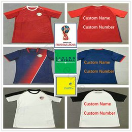 c595910e3 2018 World Cup Costa Rica Soccer Jersey 19 K.WASTON 12 CAMPELL 10 LA  COMADREJA Custom Home Away Red Blue Adult Football Shirt