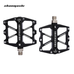 Cycle Pedals Mountain Australia - SHANMASHI SMS Paired Aluminium Alloy 4 Bearings Bicycle Pedal Mountain Bicycle Cycling Bike Pedal Ultralight Pedals Free Shipping VB