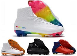 Rainbow football boots online shopping - White Red Rainbow Original Soccer  Shoes Mercurial Superfly V FG fd5917d330a2