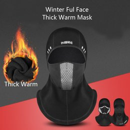 $enCountryForm.capitalKeyWord Australia - Winter Cycling cap Thermal Fleece Windproof Waterproof Face Mask Anti-smog Bicycle Ski Hat Cold Headwear Bike Face Mask Scarf