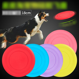 Silicone Toys Australia - 18CM Soft Flying Flexible Discs Tooth Resistant Outdoor Large Dog Puppy Pets Training Fetch Toy Silicone Dog Toys B