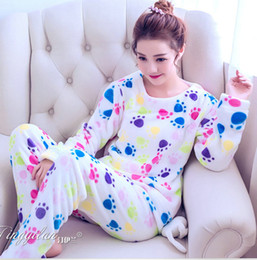 e3bdb11dae Flannel Pyjamas Women Winter Pajamas For Women Long Sleeve Cartoon Printed Sleepwear  Pajama Sets Cute Home Clothes Pijamas Mujer D18110501