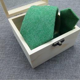 $enCountryForm.capitalKeyWord NZ - Solid Wool Tie for Men Women Herringbone Necktie Suit Wool Microfiber Blended Tie Hand Made Shirt Collar tie Various Colors In Wood Gift Box
