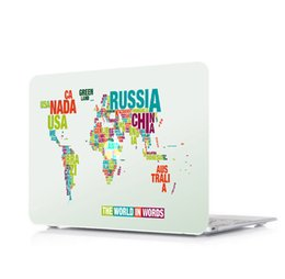 Macbook Retina 13 Inches Australia - Map-8 Oil painting Case for Apple Macbook Air 11 13 Pro Retina 12 13 15 inch Touch Bar 13 15 Laptop Cover Shell