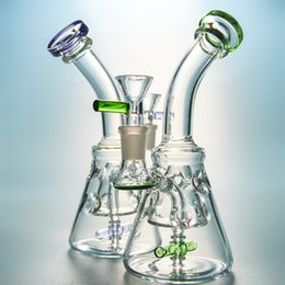 Water Pipes Fab Egg Australia - Spinning 2 Blade Propeller Recycler Perc Fab Egg Flow Motion Dab Oil Rigs Swiss-Hole Pyramid Design Glass Bong Water Pipes With Bowl XL226