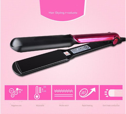 $enCountryForm.capitalKeyWord NZ - Professional 220v Anion Hair Straightener Flat Iron And Corn Clamps Curler EU Plug Straightening Ceramic Tourmaline Hair Straighter