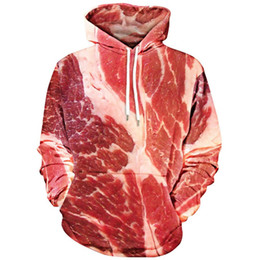 3e7bceb0b419 ONSEME Unisex-Adult Raw Meat Print Sudadera con capucha de bolsillo  Kangaroo Funny Pork 3D Sudaderas con capucha Hombres Mujeres Sudaderas con  capucha y ...