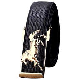 $enCountryForm.capitalKeyWord Canada - Men'S Belt Business Horse Pattern Strap Leather Belt Men Black Knit Lines Luxury Belts Men Accessories #810