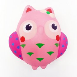 owl toys for kids 2019 - 13cm Slow Rising Squishy Toys Decompression Toys Jumbo Owl Bird For Kids Adults Stress Relief Toy DHL Free