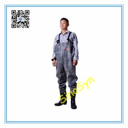 $enCountryForm.capitalKeyWord UK - FQ1726 Rubber Safty Chest  Waist Wader Pants Protective Working Fishery Men Boots--Double Gum Red Black