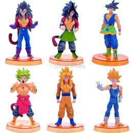 Discount kids desktop - 12.5*7.5cm Dragon Ball Z Action Figures Toys cartoon 6 styles Goku Siah Dolls model Desktop Decoration C4201
