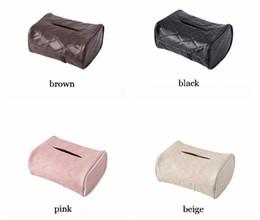 Quality 4 Color Car Tissue Box Leather Auto Interior Accessories Storage Box In Trucks Bus Home on Sale