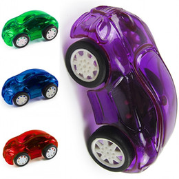 Toy Pull Cars UK - Wind Up Toys Pull Back Transparent Plastic Car Clockwork Classic Toy Cute Running Newborn Spring Cars Kids Casual Game0 5bx Z