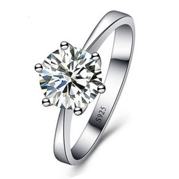 Anéis De Casamento Romântico Jóias Cubic Zirconia Anel para Mulheres Homens 925 Sterling Silver Anéis Acessórios