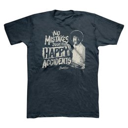 Camiseta sin mangas Bob Ross No Mistakes, Just Happy Accidents - Azul marino - Tamaño de la selección