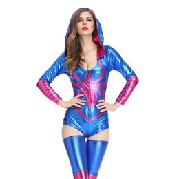 women halloween costumes lingerie UK - Women's Underwear Night Show Sexy Lingerie Nightclub DS Game Uniform Cosplay Female Costume Halloween Spider Work Clothing