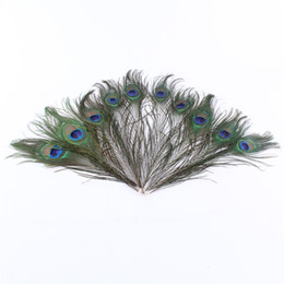 Natural desktop online shopping - Natural Peacock Feather Hand Made Exquisite Crafts For Home Desktop Elegant Wedding Decorations Ornament Factory Direct Sale yx YB