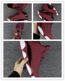 $enCountryForm.capitalKeyWord Australia - 2018 High quality New 13 Velvet 13s Mens Basketball Shoes Men Wine Red White Sports Sneakers size 41-47