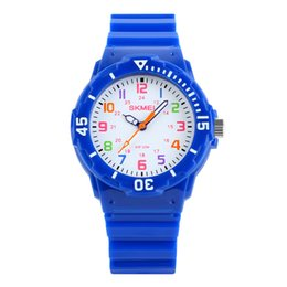 Wholesale SKMEI Fashion Cool Watch Students Children Watches Waterproof Quartz Wristwatches Jelly Kids Clock Boys Hours Girls Watch