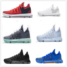8c708ab2f1b87c Zoom KD 10 Basketball Shoes Men Men s Blue BHM Kevin Durant 10 Elite Floral  Aunt Pearls Easter Sport Shoes