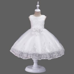$enCountryForm.capitalKeyWord Australia - ALI HOT SALE Sequin Lace Flower Girls Dresses Vintage Appliques Hand Made Flowers Big Bow Sash Princess Girls Tulle Ball Gown Dresses D02