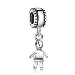 $enCountryForm.capitalKeyWord Canada - 2017 New Authentic 925 Sterling Silver Family Theme Boy Dangle Charms DIY Craft Beads Jewelry Making Fits European Bracelets HB367