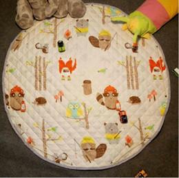 Carpet Bags Australia - 110cm round Baby Soft Play Mat Game Blanket Pad Kids Play Carpet