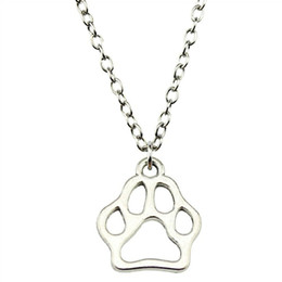 paw pendant wholesale Australia - WYSIWYG 5 Pieces Metal Chain Necklaces Pendants Hand Made Necklace Men Paw 19x17mm N2-B10295