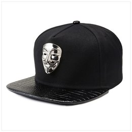 50f1f63c259 PU Leather Baseball Caps Adjustable Black Snapback Baseball Cap Men Women  Dance Hip Hop Hats Sport Snap Back Hat America Fashion Hiphop Hat