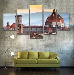 $enCountryForm.capitalKeyWord NZ - 5 Panels with No Frame Modular Canvas Picture Cathedral Santa Maria Del Fiore In Florence Wall Art Painting Home Decoration Printed Poster