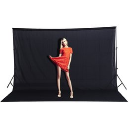 PhotograPhy backdroPs sale online shopping - CY Hot sale x2M Effect Image Solid color Backgrounds Black screen cotton Muslin background Photography backdrop lighting studio
