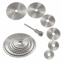 Wholesale high power saw online – design HSS Rotary Tools Mini Circular Saw Blades Cutting Discs Set High Quality Drill Mandrel Cutoff Cutter Power Tools Multitool