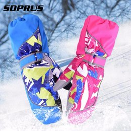 Wholesale Gloves Boy Girl Windproof Warm Thickening Children Mittens Ski Gloves Snowboard Winter for Kids Stroller Accessories