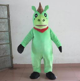 Wholesale pony costumes for sale - Group buy 2018 High quality hot new green colour horse mascot costume pony mascot suit for adults to wear for sale