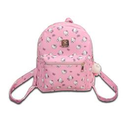 867544b07 Kawaii Cute Hello Kitty Printed Children Girls Backpack Fashionable PU  Leather School Shoulder Bags