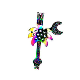 China 10pcs lot Rainbow Color Guitar Pliers Beads Cage Locket Pendant Diffuser Aromatherapy Perfume Essential Oils Diffuser Floating Pom supplier guitar pendant black suppliers