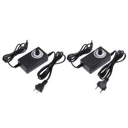 Speed Controller 12v Australia - 2a power US EU Plug AC DC Adapter Voltage Adjustable 3-12V 2A Power Supply Charging Adaptor For Motor Speed Light Temperature Controller
