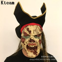 Discount zombie masks - Horror!!! New Halloween Zombie Mask Ghost Scary Mask Props Grudge Ghost Hedging Zombie Realistic Bloody Masks With Hat