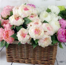 $enCountryForm.capitalKeyWord Canada - Dia 10cm Flower Head Upscale Artificial Peony Flower Elegant 5 Heads one Branch Bouquet For Home Living Table Decoration