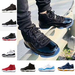 Basketball Sneakers Popular Canada - Wholesale Men Women Basketball Shoes 11s fashion Space concord 45 11s blackout gym red popular black sports sneakers size US 5.5-13