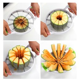 Melon slicer online shopping - Eco Friendly Kitchen Practical Tools Creative Watermelon Slicer Melon Cutter Knife Stainless Steel Fruit Cutting Slicer Whitout Box