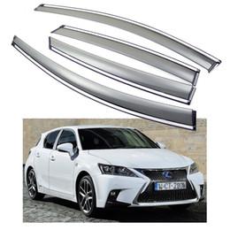 Nova Frente Da Janela Do Carro Traseira Visores Defletores de Ventre Sombra apto para Lexus CT 200 h 2011-2016 12 13 14 15 em Promoção