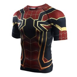 Cool Printed Tshirts Canada - Spider Tshirt Hoodies Tops Men Cool Clothing Wear 3D Printed T-shirt Top Tshirts