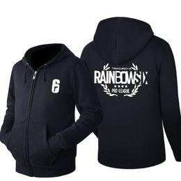 China MIDUO 2018 Tom Clancy's Rainbow Six Siege Game Cosplay Hoodie Men's autumn Winter Casual Fleece Sweatshirt Zip Up Hoodie Cotton cheap cosplay six suppliers