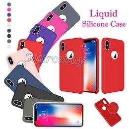 Iphone Cases Liquid NZ - Silicon Case for iPhone X Liquid Silicone With Microfiber Cloth Lining Case Cell Phone Cover for iPhone X 10 Soft Skin Touching Feeling