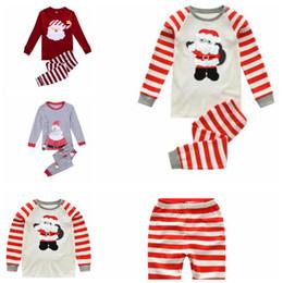 $enCountryForm.capitalKeyWord Canada - 3 design Children's Christmas Pajamas Sets Homewear Xmas Santa Claus Children Sleepwear Night Wear Outfits 2-7 Years KKA5925