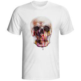 b278bdc2e 2018 Newest Men Fashion Watercolor Skull Design T Shirt Novelty Graffiti  Tops Gentleman Custom Printed Short Sleeve Tees S - Xxxl