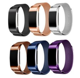 Link cLosure online shopping - Magnetic Milanese Loop Wrist strap Link Bracelet Stainless Steel Band for Fitbit Charge band men woman Adjustable Closure